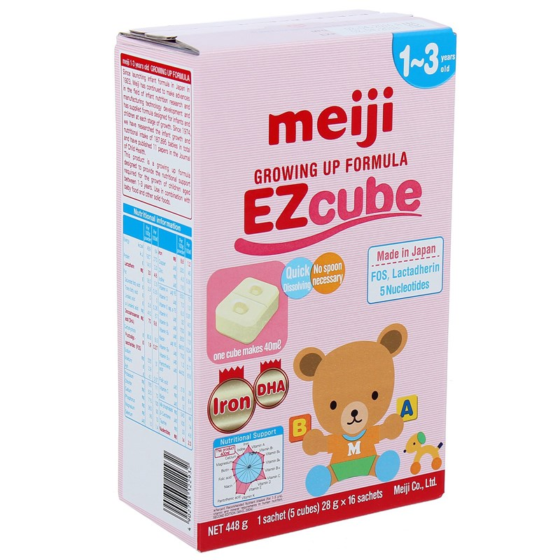 Sua Meiji 9 (1-3 tuoi) Growing Up Formula EZcube (16 thanh)