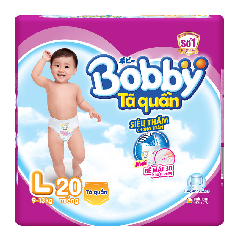 Tã - bỉm quần Bobby L20 (9-13kg)