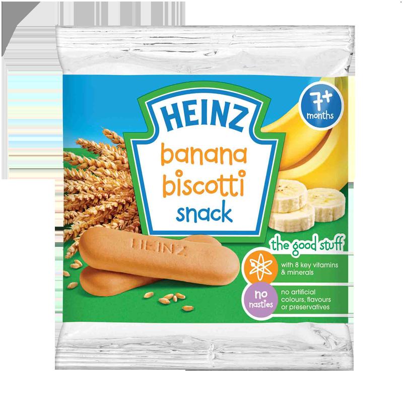 Bánh ăn dặm Heinz vị chuối (7M+)