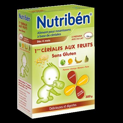 Bột ngũ cốc Nutribén không Gluten - hương trái cây (300g)
