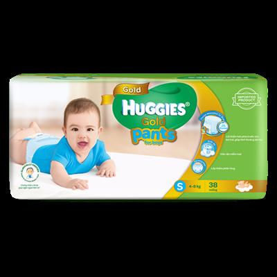 Tã - Bỉm quần Huggies Gold bé trai S38 (4-8kg)