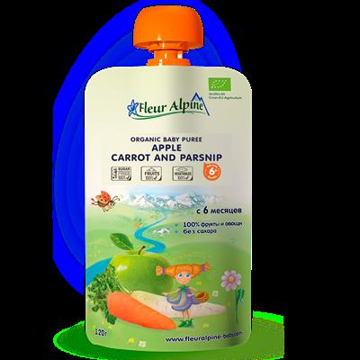 Dinh dưỡng trái cây Fleur Alpine Organic Táo, cà rốt, củ cải