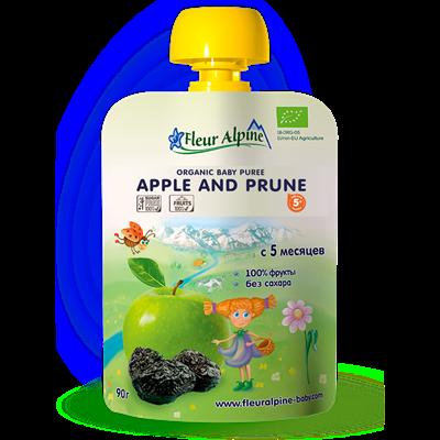 Dinh dưỡng trái cây Fleur Alpine Organic Táo và mận đen