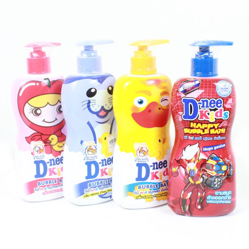 Tam goi Kids Dnee (>3t) 400ml hong, tim