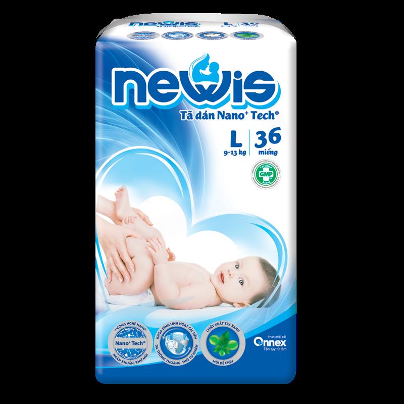 Tã - Bỉm dán Newis L36 (9-13kg)