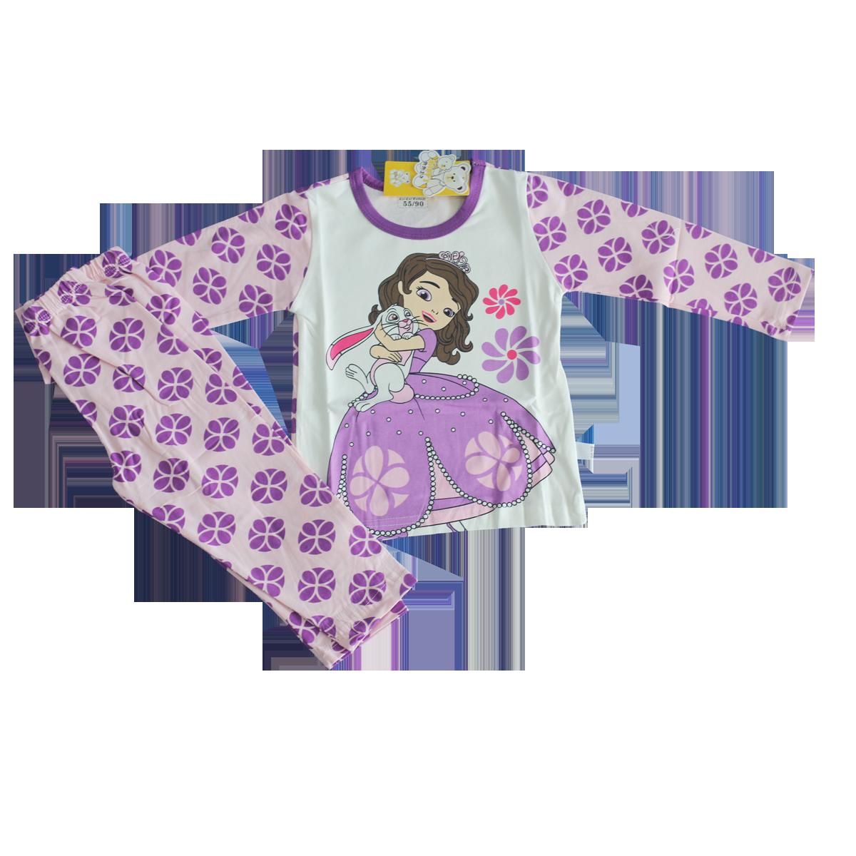 Bộ quần áo dài tay bé gái QC7000 (nhiều màu)