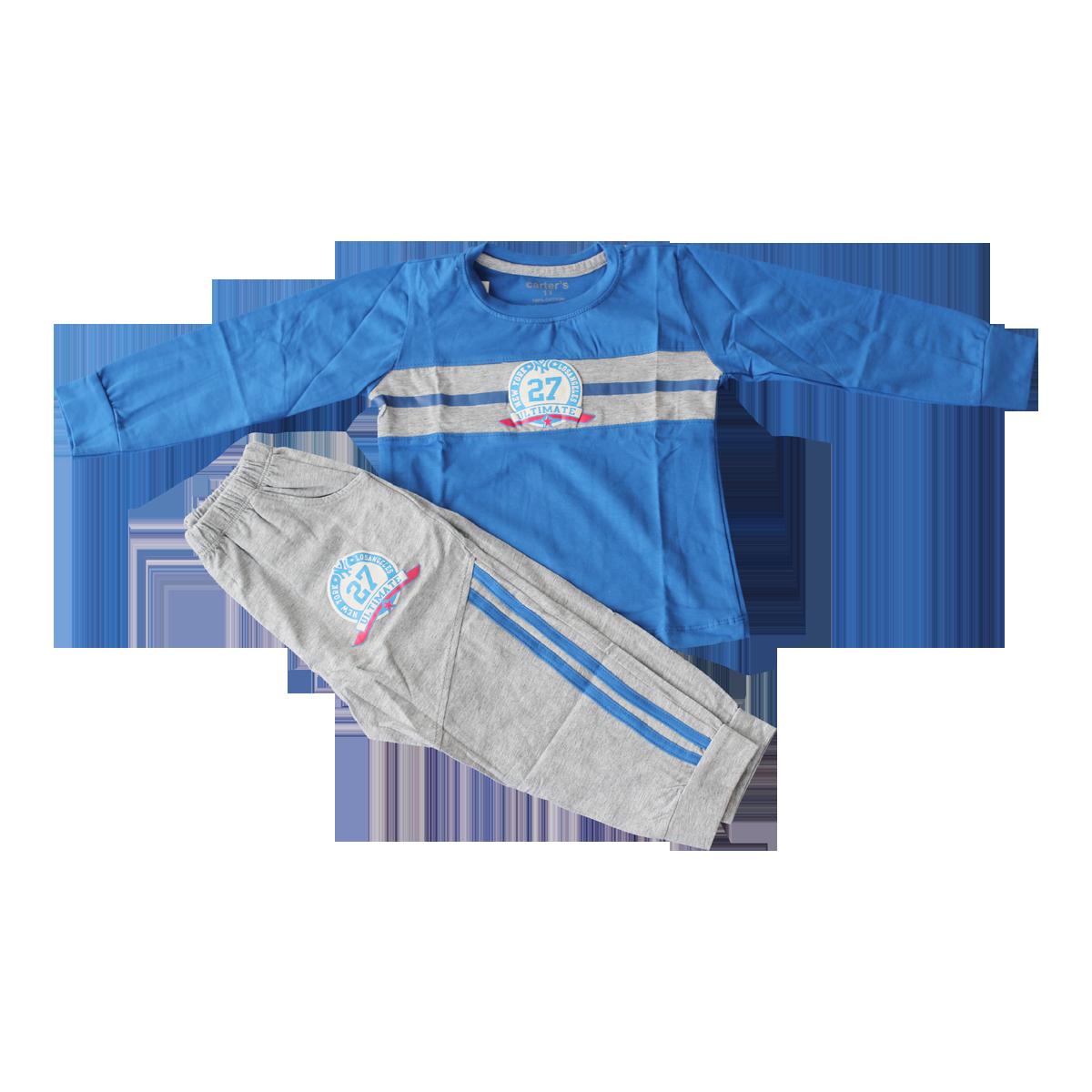 Bộ quần áo Thu Đông TE7004 in số (2-5T)