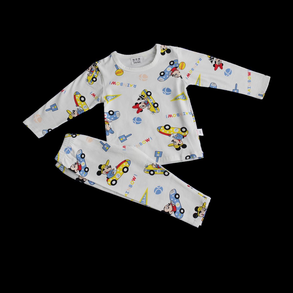 Bộ quần áo bé trai in hình QC5008 (1-3T)