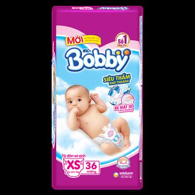Tã - bỉm dán Bobby sơ sinh XS36
