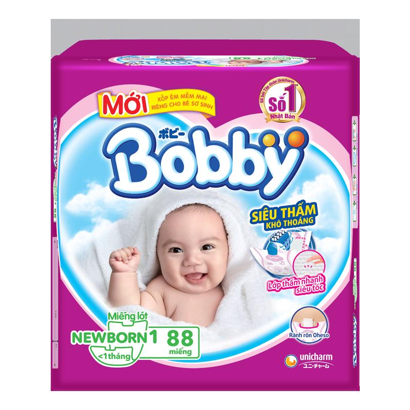 Tã giấy Bobby Newborn 1 (88 miếng)