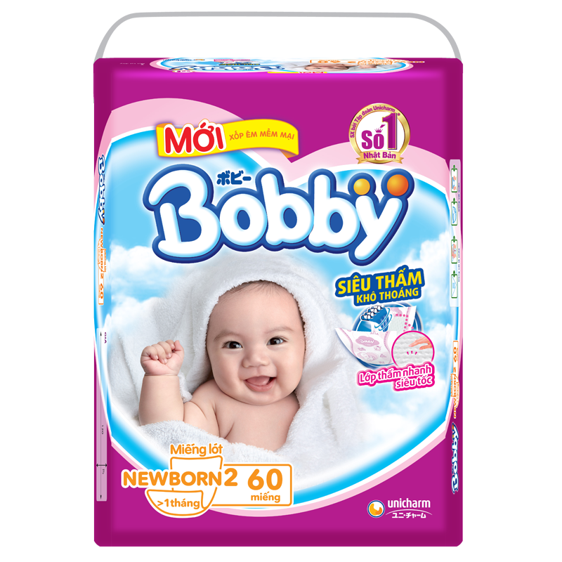 Ta giay Bobby Newborn 2 (60 mieng)
