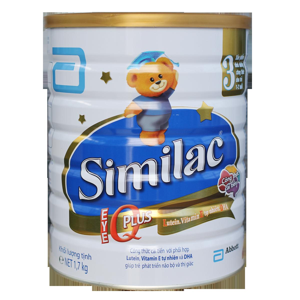 Sữa Similac Gain IQ Plus 3  - 1,7kg (1-2 tuổi)
