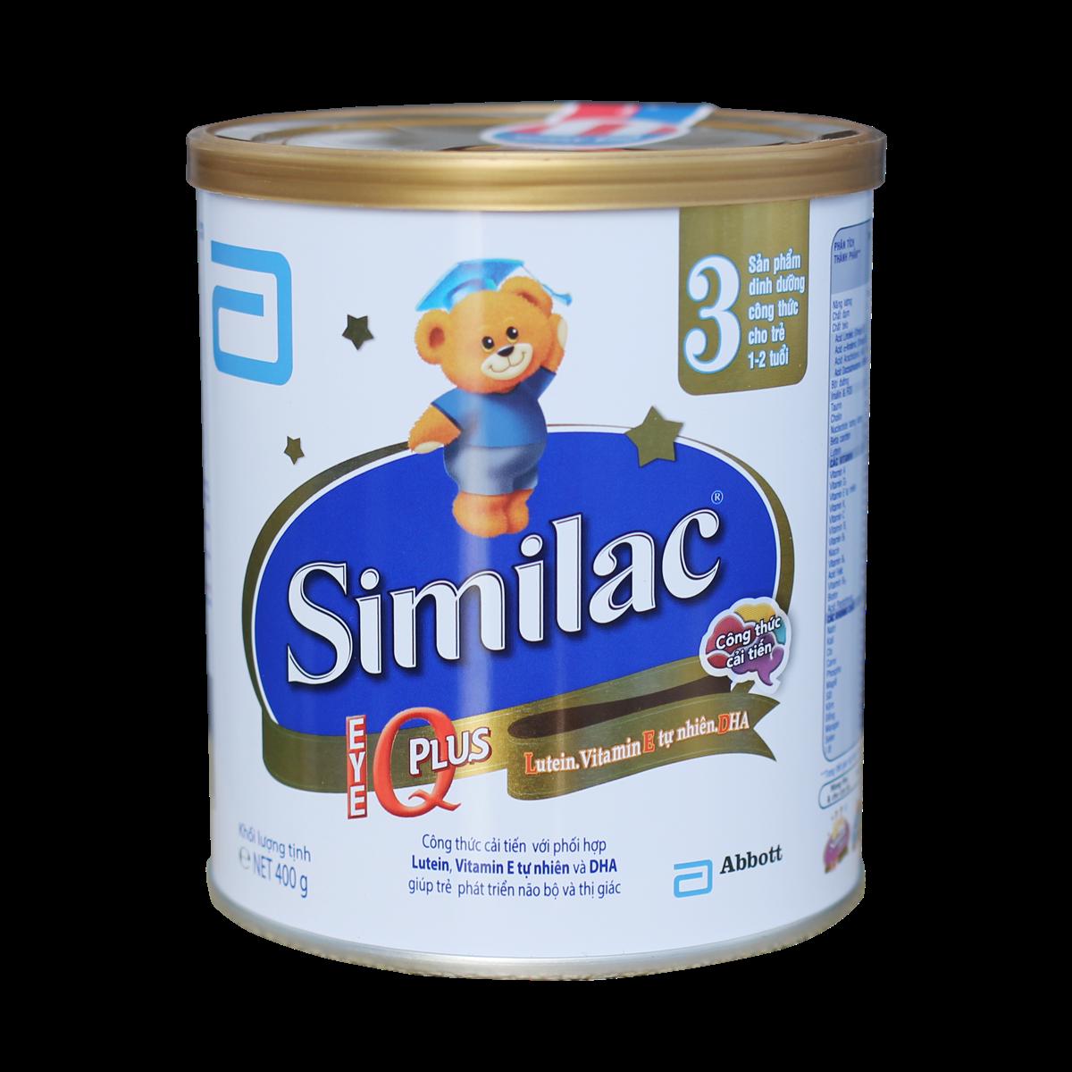 Sữa Similac IQ Plus số 3 - 400g (1-2 tuổi)
