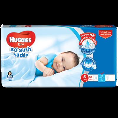 Bỉm - Tã dán sơ sinh Huggies S56 (4-8kg)