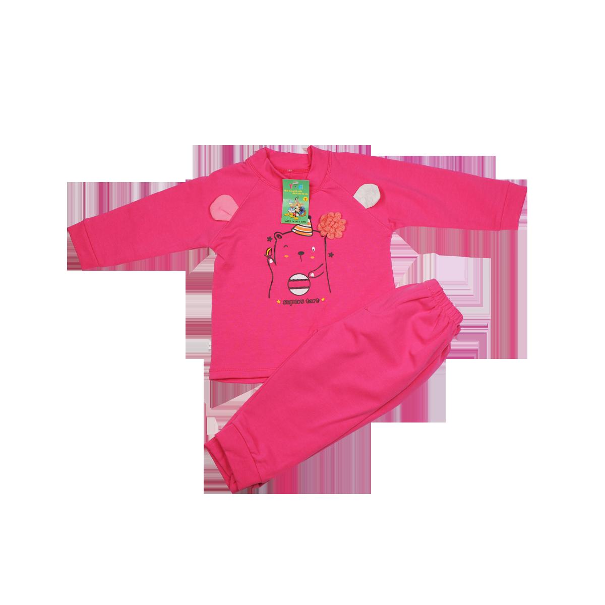Bộ quần áo TA in hình gấu (6-24M)