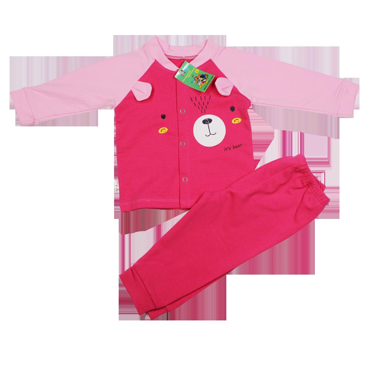 Bộ quần áo TA in hình cúc giữa (6-24M)