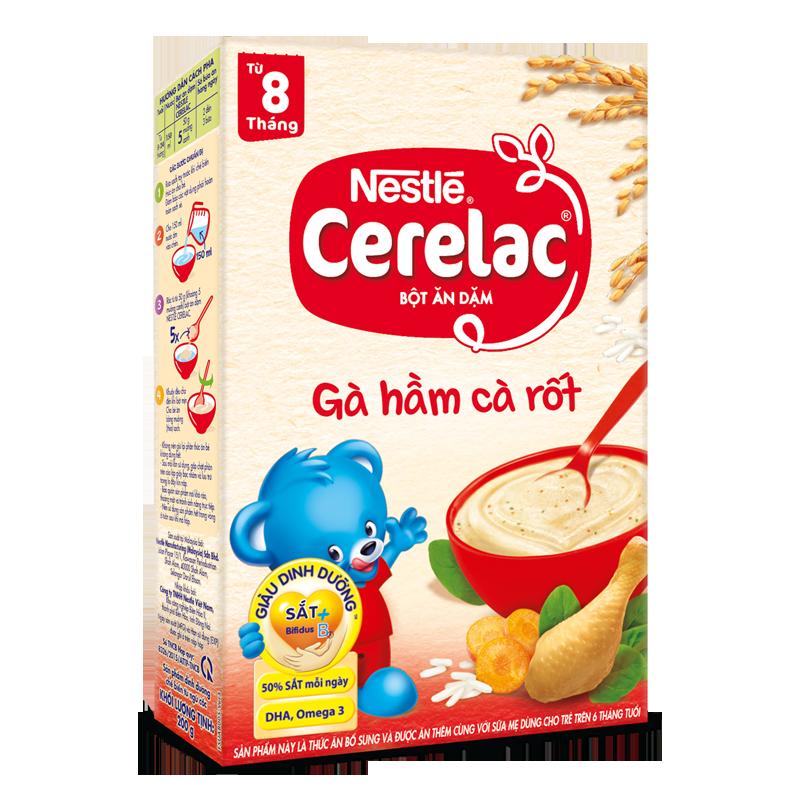 Bột ăn dặm Nestle Cerelac - Gà hầm cà rốt (200gr)