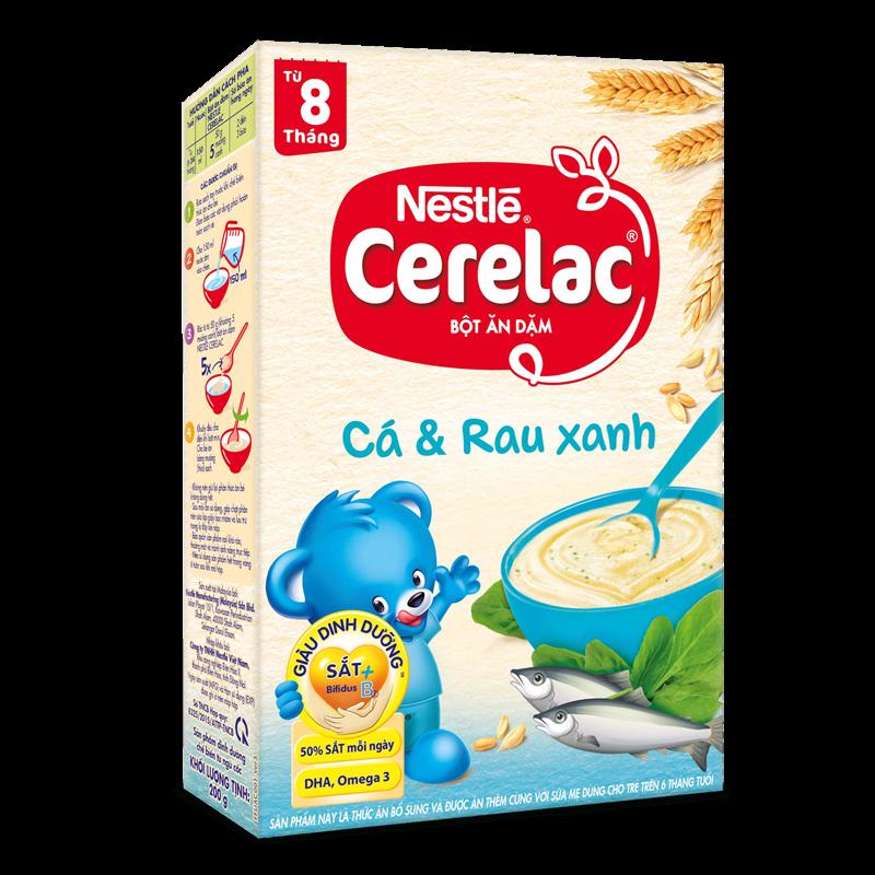 Bot an dam Nestle Cerelac - Ca va rau xanh (200gr)
