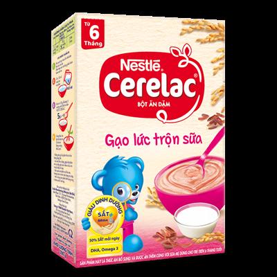 Bột ăn dặm Nestle Cerelac - Gạo lức trộn sữa (200gr)