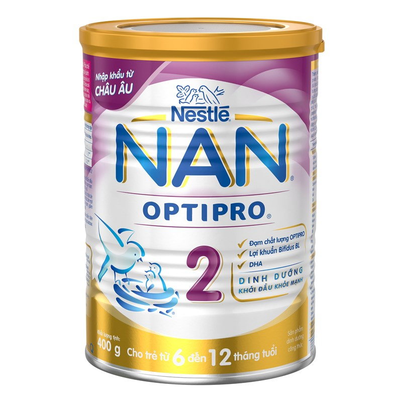 Sua NAN Pro so 2 400g (6-12 thang)