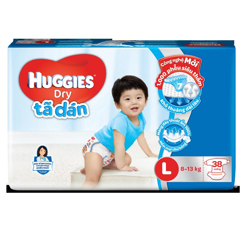 Tã - bỉm dán Huggies L38 (8-13kg)