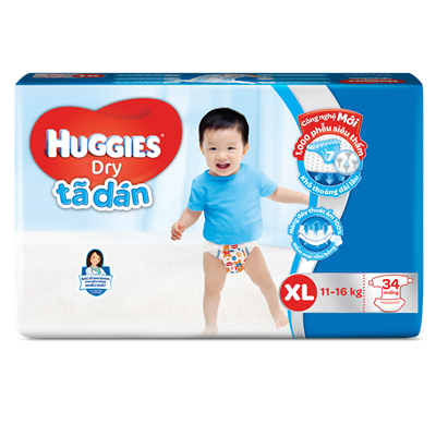 Tã - bỉm dán Huggies XL34 (11-16kg)