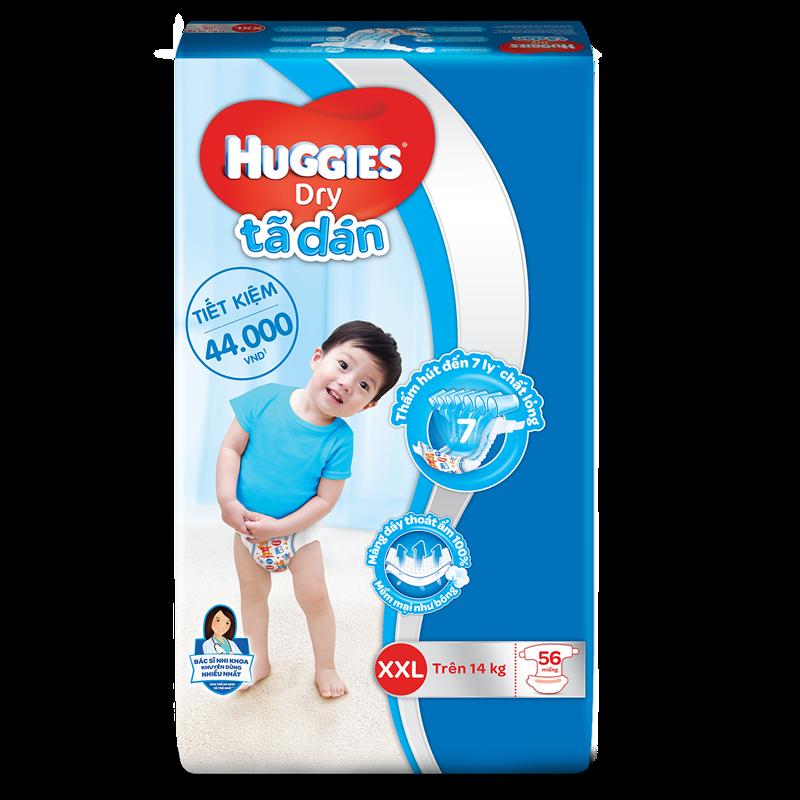 Tã - bỉm dán Huggies XXL56 (trên 14kg)