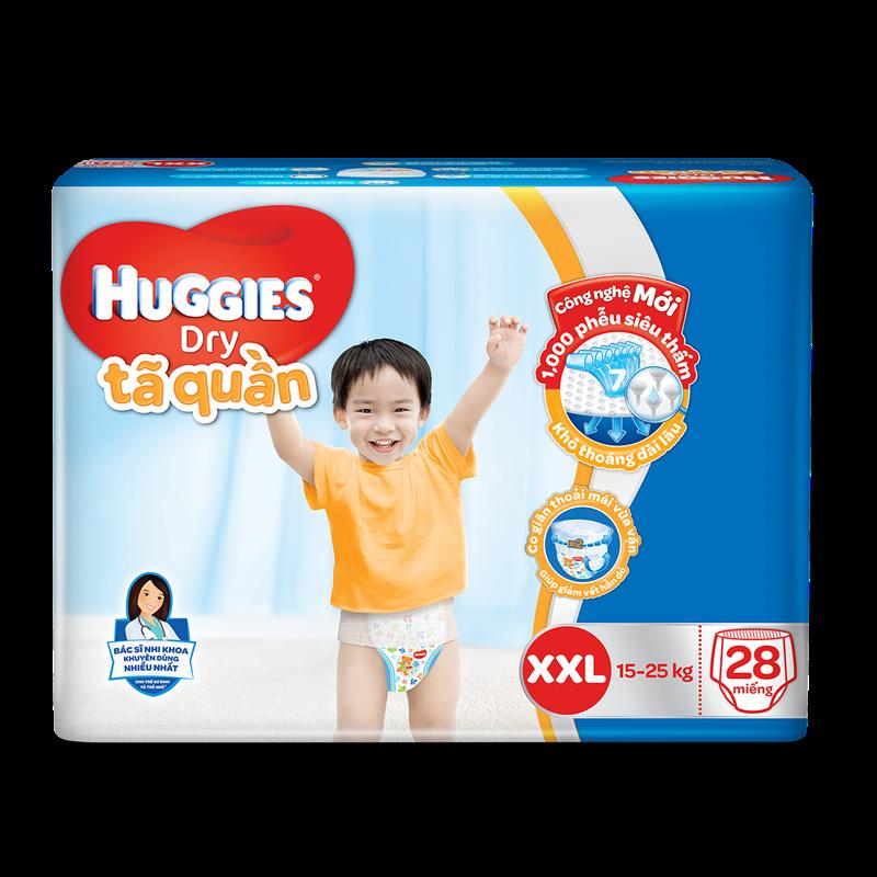 Tã – Bỉm quần Huggies Dry XXL28 (15 – 25 kg)