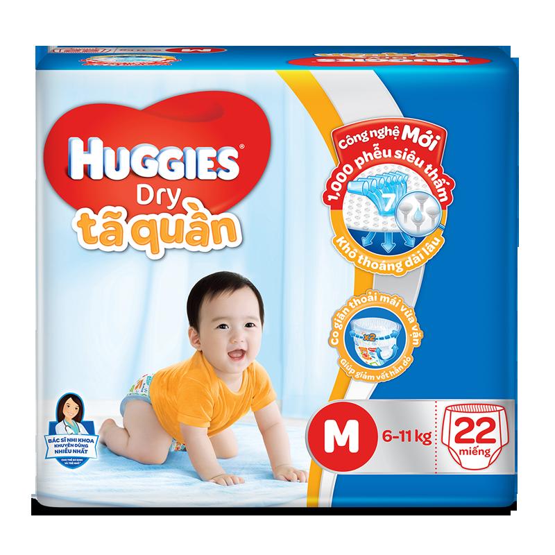 Tã - Bỉm quần Huggies M22 (6-11kg)