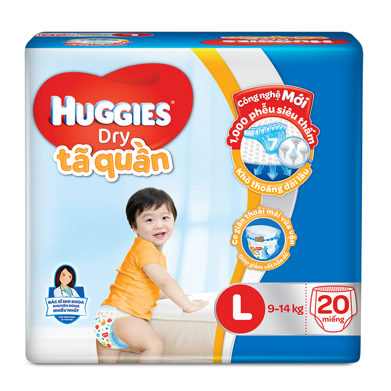 Tã - bỉm quần Huggies L20 (9-14kg)