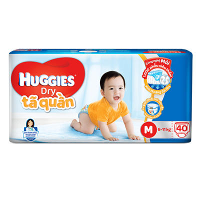 Tã - bỉm quần Huggies M40 (6-11kg)