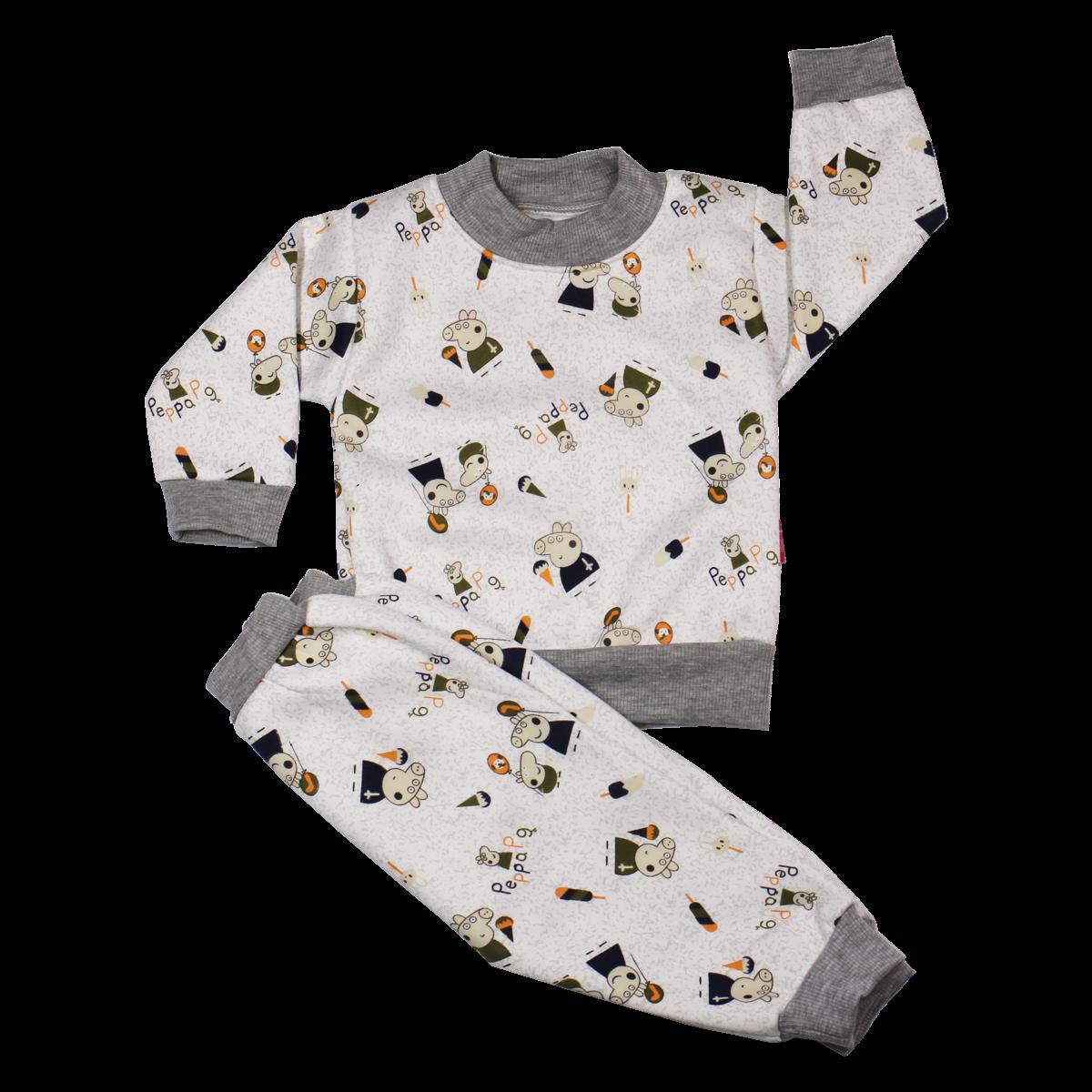 Bộ quần áo nỉ lót bông in hình (6-36M)