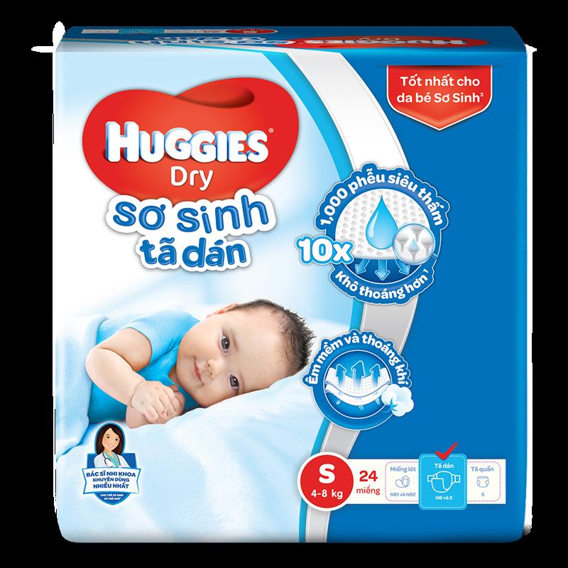 Tã - bỉm dán Huggies S24 (dưới 7kg)