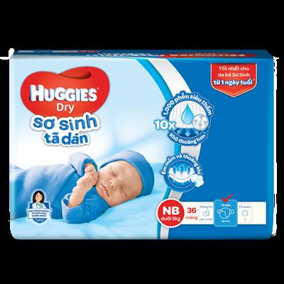Tã dán sơ sinh Huggies Dry NB36 (<5kg)