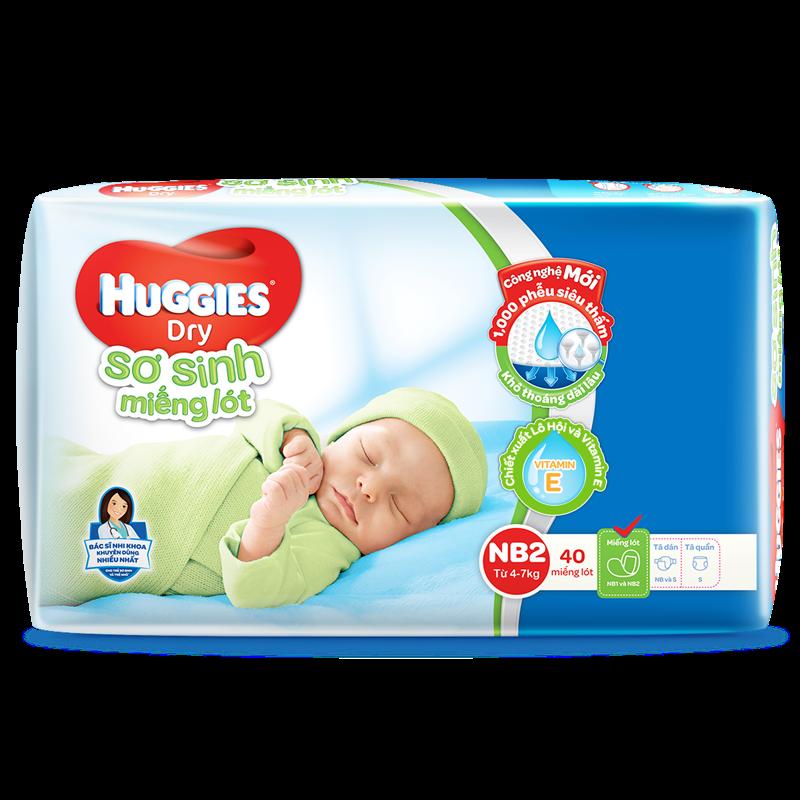 Mieng lot so sinh Huggies Newborn 2 (40 mieng)