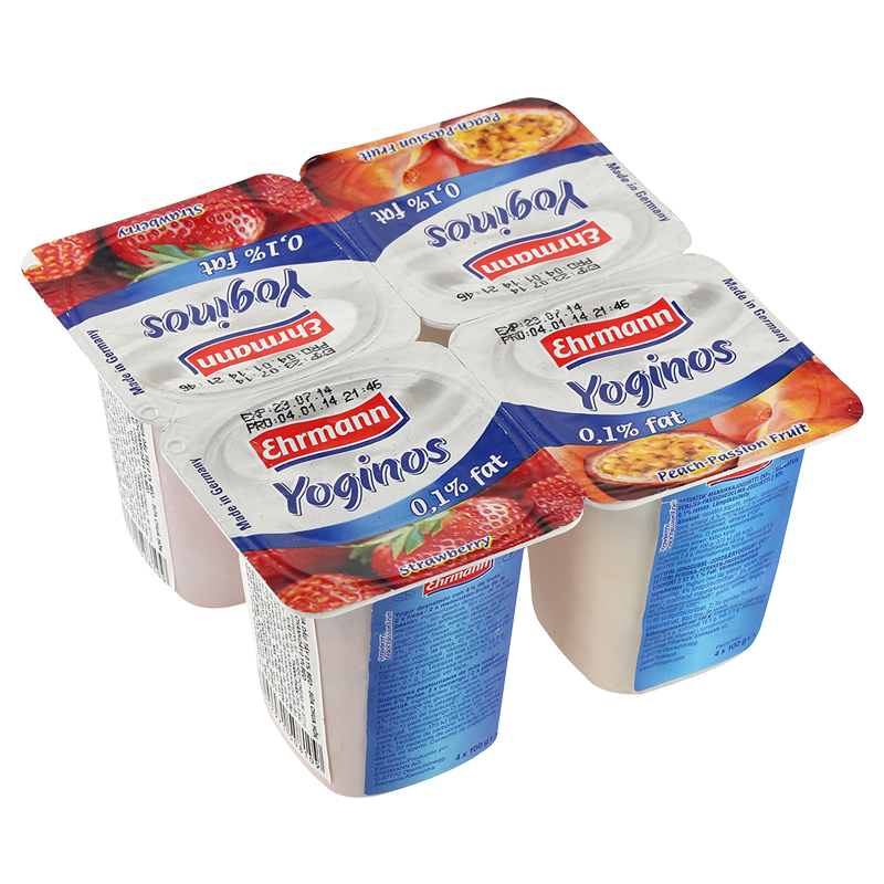 Sữa chua ít béo Ehrmann Yoginos (vị trái cây)