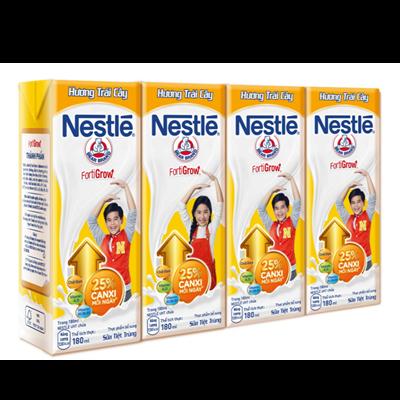 Sữa nước Nestlé hương trái cây 180ml