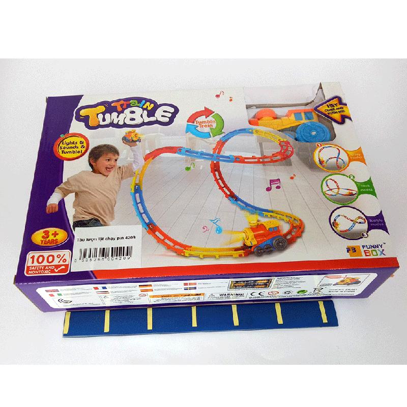 Bộ đồ chơi tàu lượn chạy Pin 4209