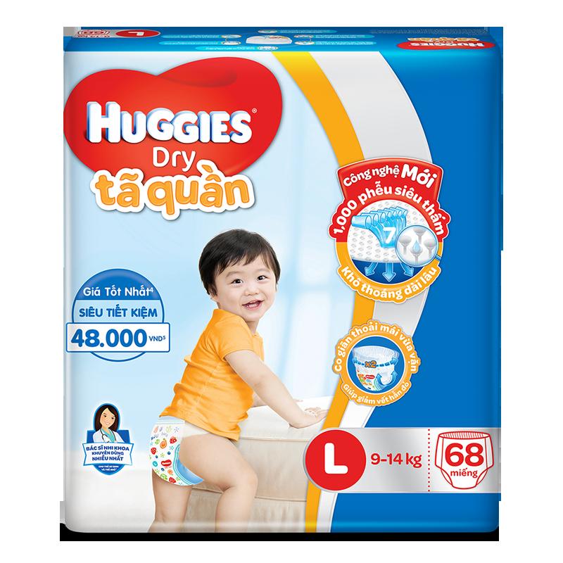 Tã - Bỉm quần Huggies Dry L68 (9-14kg)