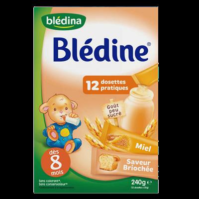 Bột pha sữa Bledina vị bánh mỳ mật ong 8M+ (240gr)