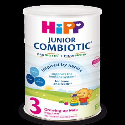 Sữa bột HiPP Combiotic số 3 800g (1-3 tuổi)