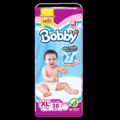 Tã - bỉm dán Bobby XL38 (12-17kg)