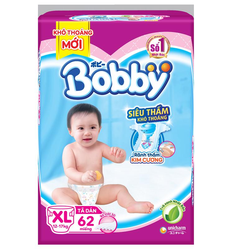 Tã - Bỉm dán Bobby XL62 (12-17kg)