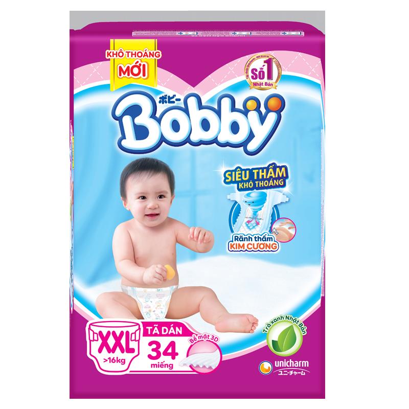 Bỉm - Tã dán Bobby XXL34 (>16kg)