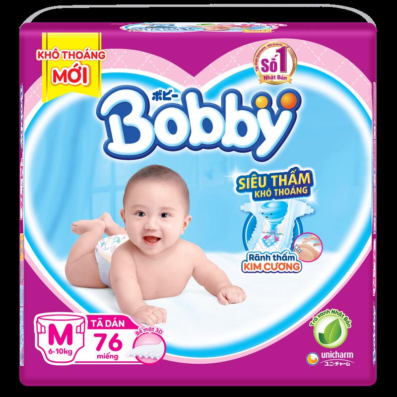 Tã - bỉm dán Bobby M76 (6-10kg)