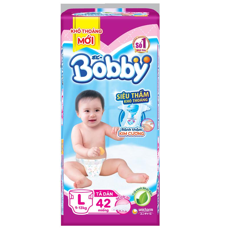 Tã - Bỉm dán Bobby L42 (9-13kg)