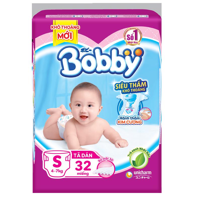 Tã - bỉm dán Bobby S32 (4-7kg)