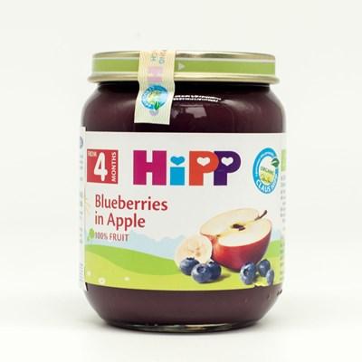 Dinh dưỡng đóng lọ Hipp dâu tím, táo tây 125g