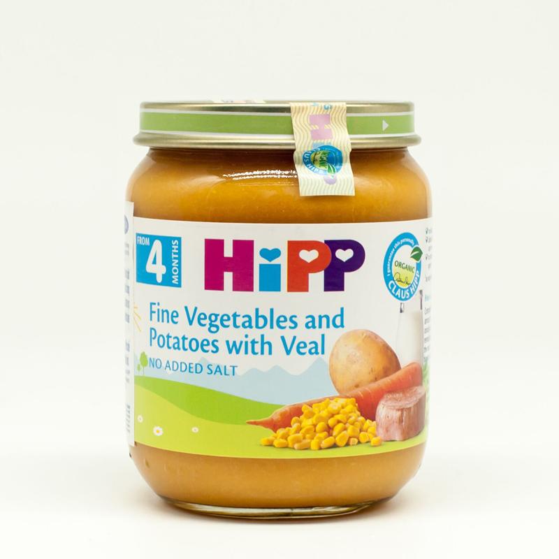 Dinh dưỡng đóng lọ HiPP 6152 (thịt bê, khoai tây, rau tổng hợp)