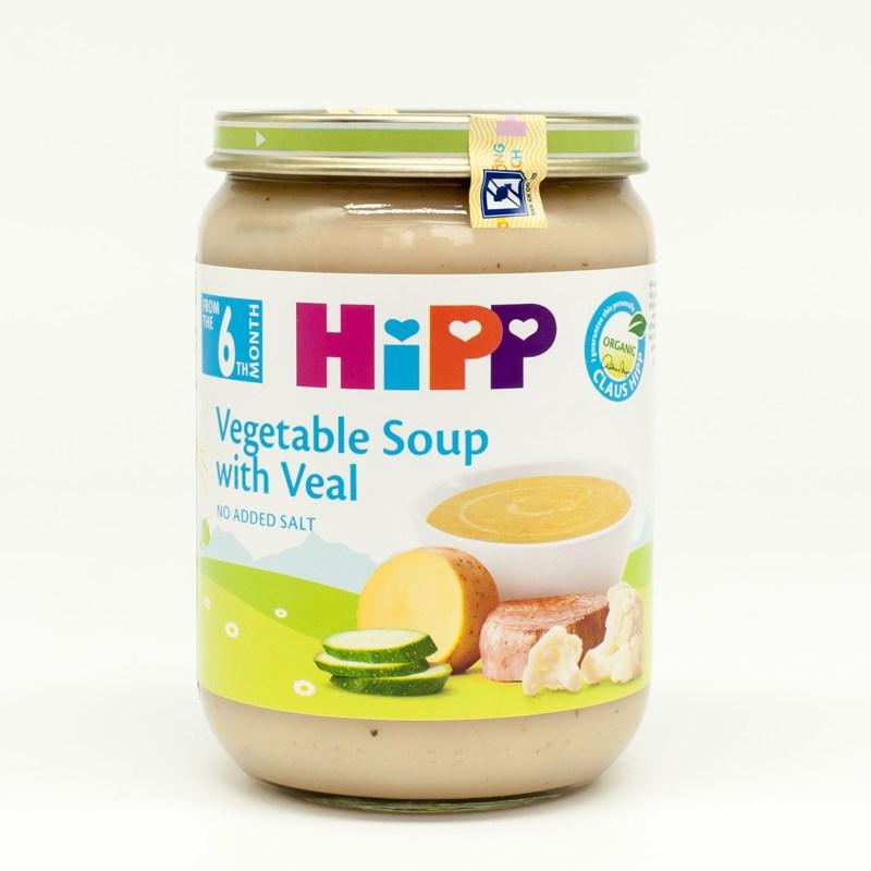 Dinh dưỡng đóng lọ HiPP 7983 - Súp rau thịt bê (190g)
